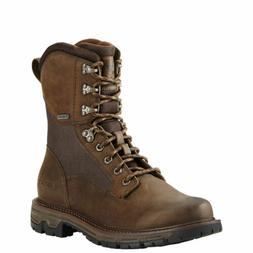 "Ariat 10018427 Conquest 8"" GTX Pebbled Brown GORE-TEX Waterp"