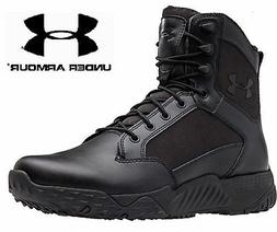 "Under Armour Black Stellar Tactical Boots - UA 8"" Field Duty"