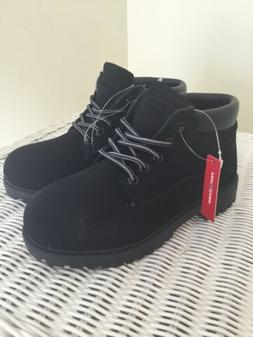 Boys BOOTS Work Farm Hiking Hunting Black Youth Size 2 NEW