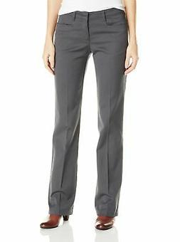 Dickies Girl's Stretch Boot Cut Classic Fit Pant, Charcoal,