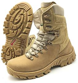 HUNTING BOOTS MENS MILITARY ARMY TACTICAL COMBAT SAND CANVAS