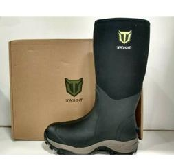 TideWe Hunting Muck Boots Black Men's Size 10