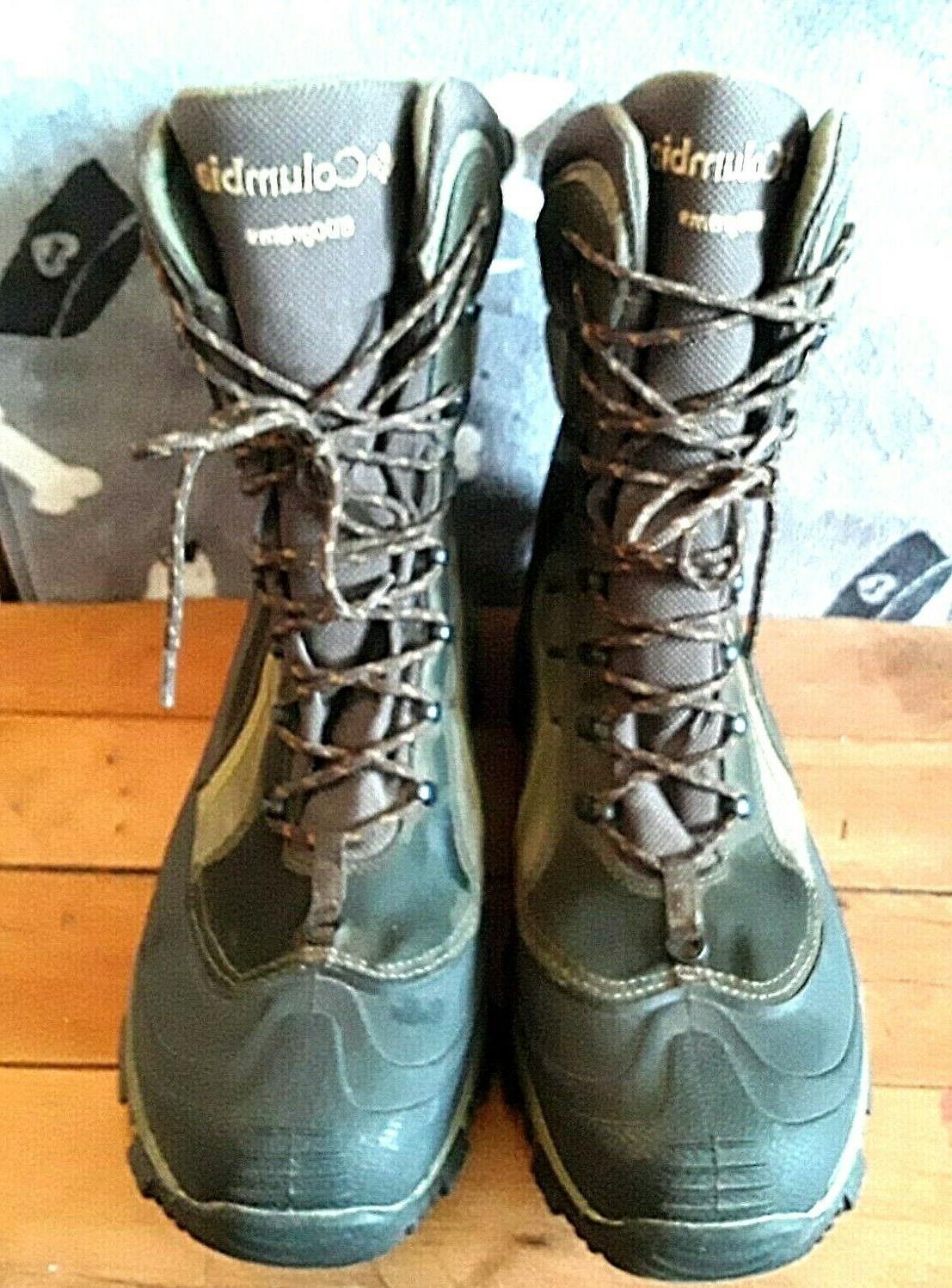 """COLUMBIA 9"""" 600gm Hunting Boots Men's Size 14"""