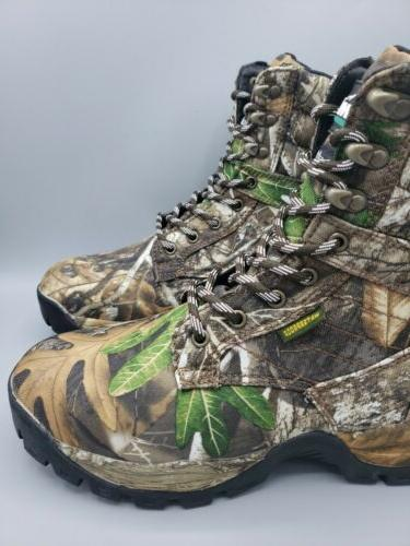 Camo Hunting Boots Men's 600g Size 8