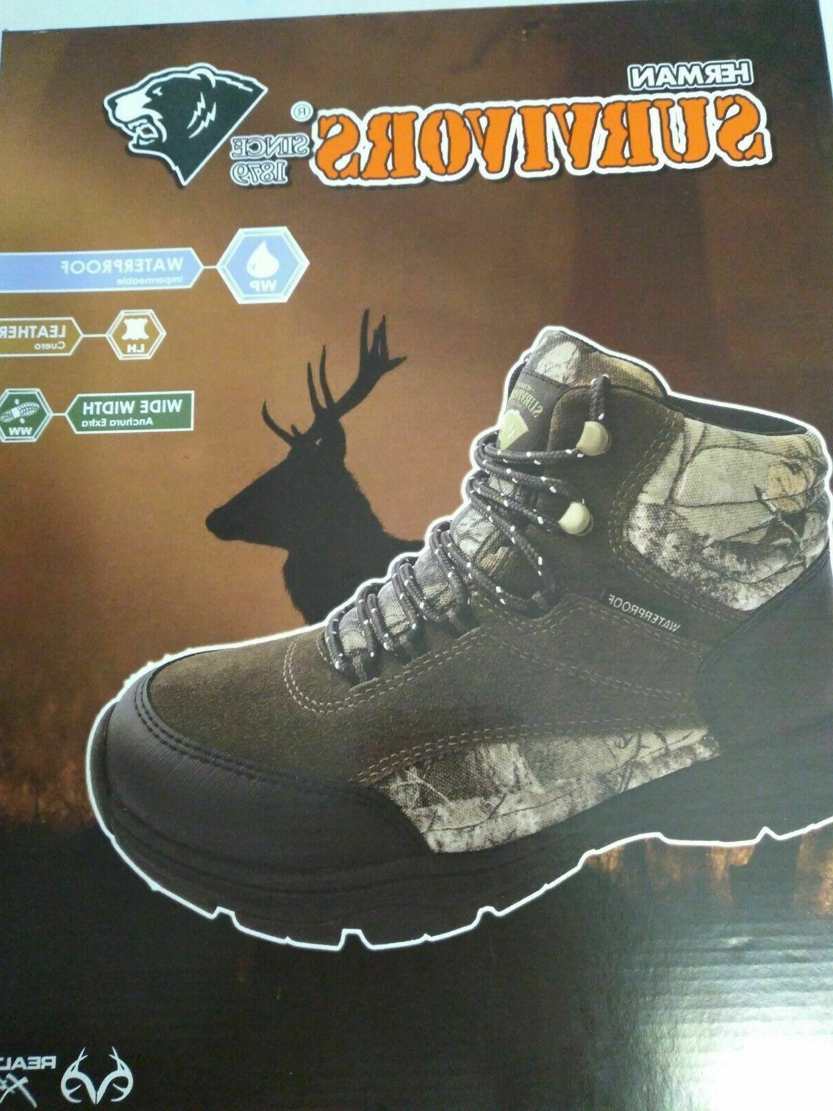 camo hunting boots mid profile waterproof size