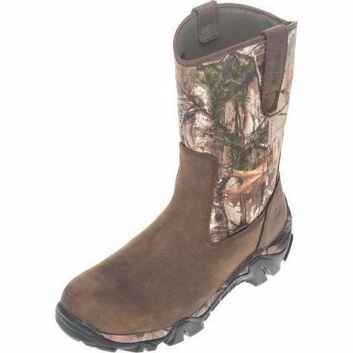 W08053 WOLVERINE COYOTE XTR INSULATED LEATHER BROWN//REAL TREE CAMO MEN/'S BOOTS