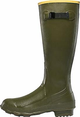 grange mens green rubber 18in hunting boots