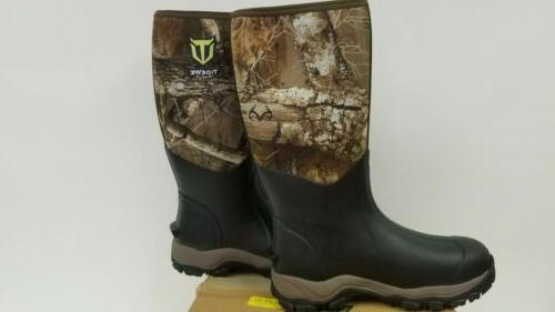 "TideWe Hunting Men Insulated Waterproof Durable 16"" 10 Boots"