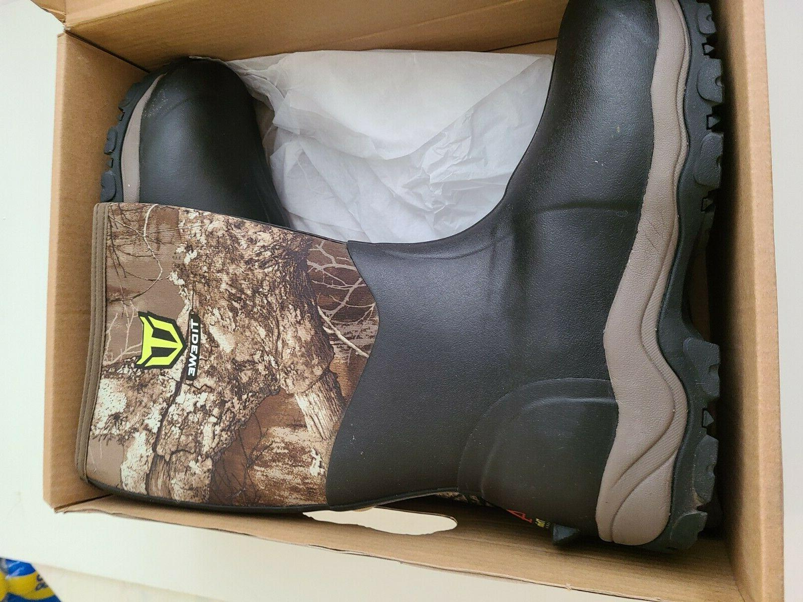 men s hunting boots size 14 waterproof
