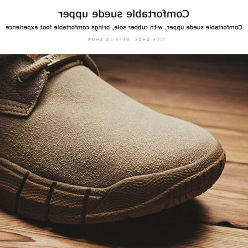 Men's Suede Combat Hiking Ankle