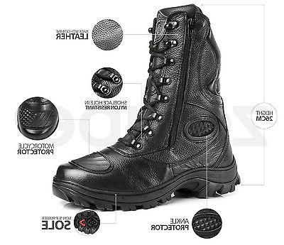 Hunt Boots Leather Tactical Military