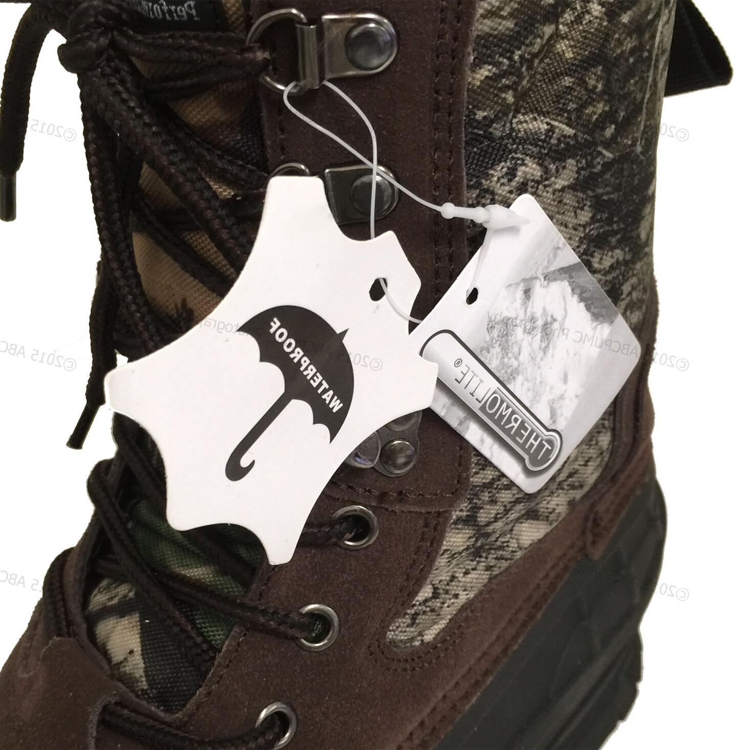 New Men's Boots Leather Waterproof Insulated Hunting