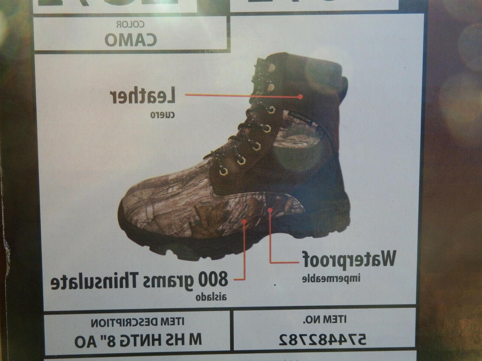 "NEW Herman Hunting 8"" Boots Thinsulate 7.5-13"