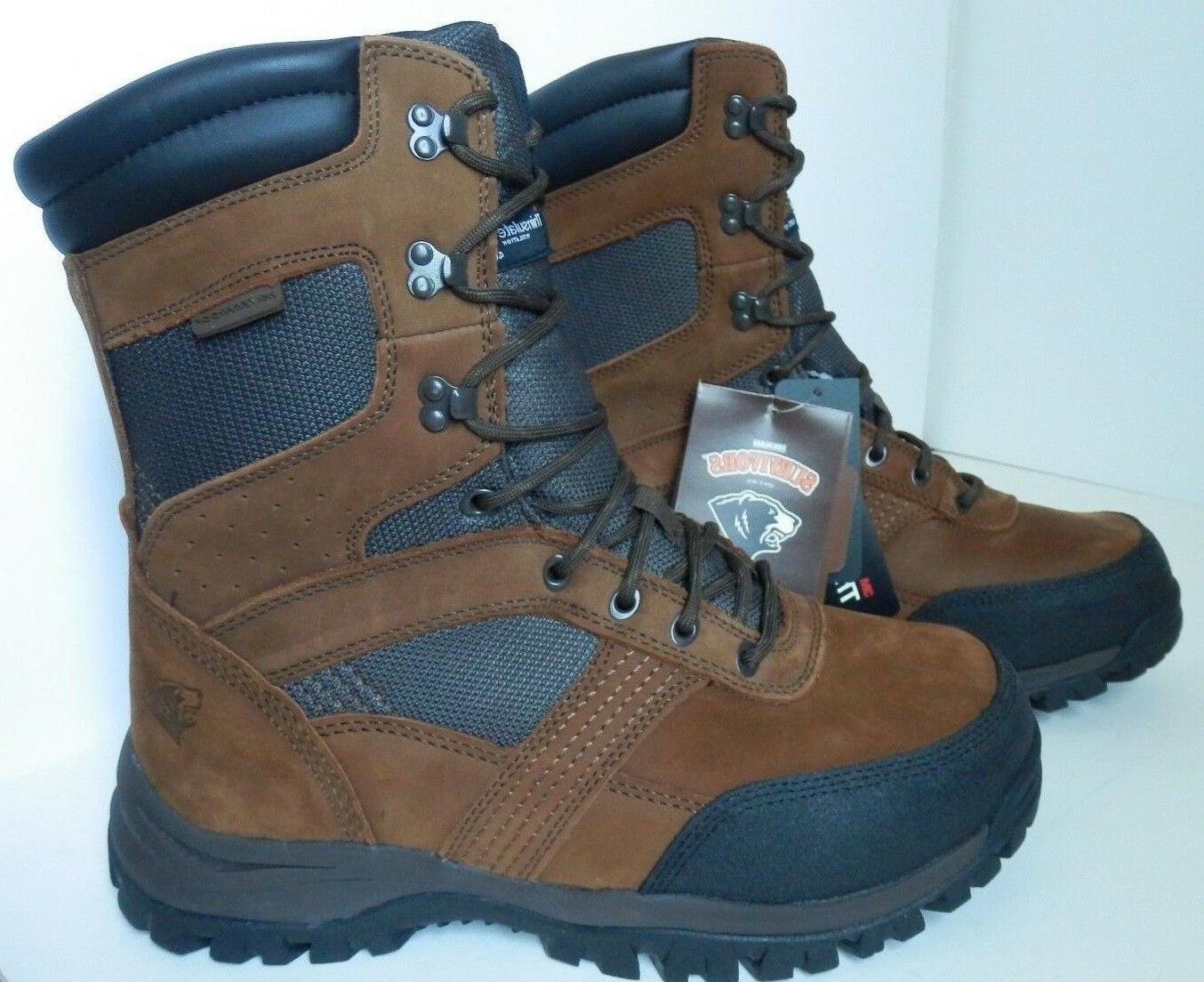 """New Herman Hunting 8"""" Leather Insulated Extra Wide"""