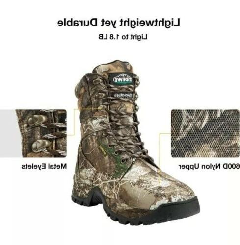 TideWe Realtree Camo Hunting Boots Waterproof New