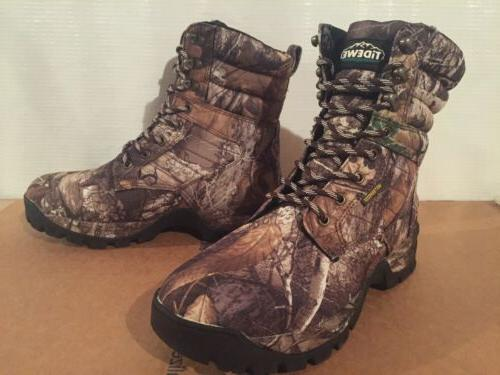 realtree camo edge hunting hiking boots insulated