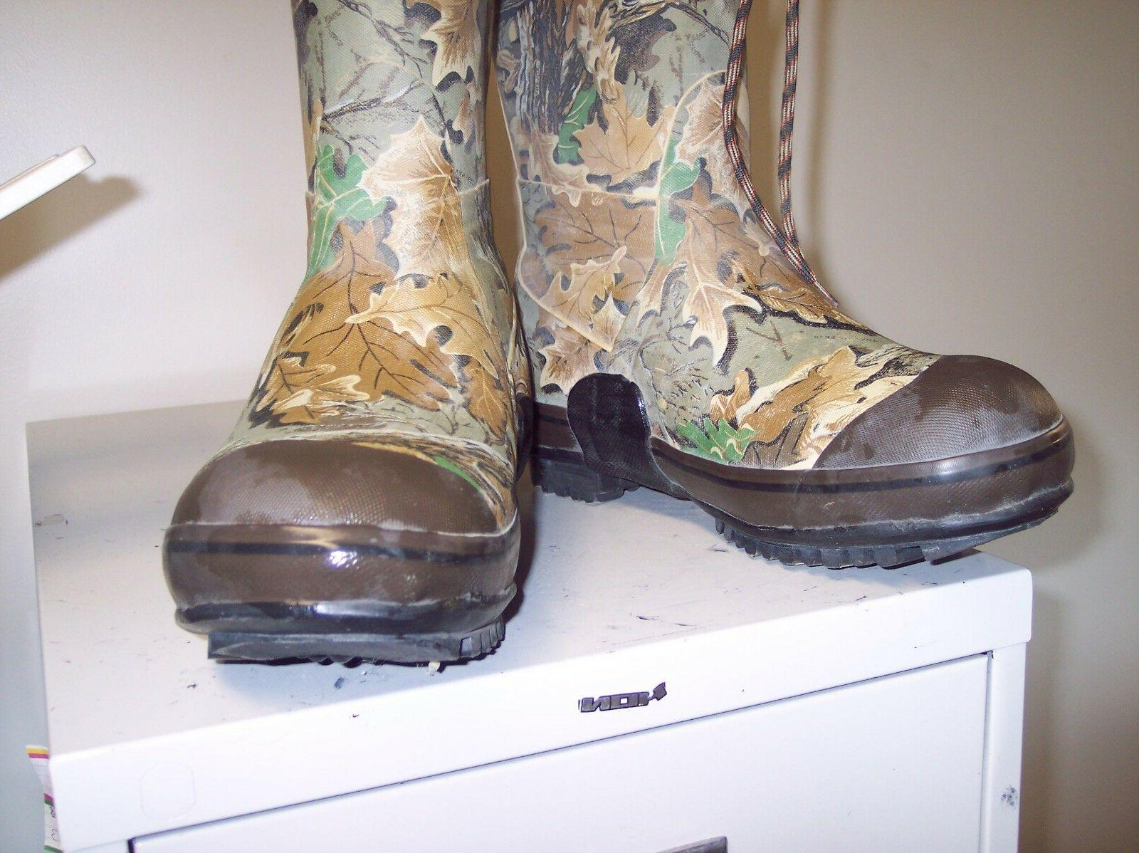 SIZE STEEL RUBBER HUNTING BOOTS BY ROCKY SCENT
