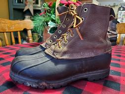 LL BEAN BOOTS DUCK BOOTS MAINE HUNTING SHOE WOMEN'S 8 FITS A