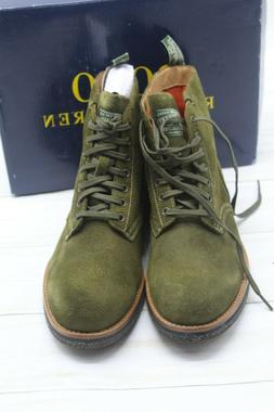 Polo Ralph Lauren Men 8.5D  Army Roughout Suede Fashion Boot