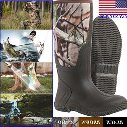 HISEA Men & Women Waterproof Rain Boots Insulated Outdoor Mu