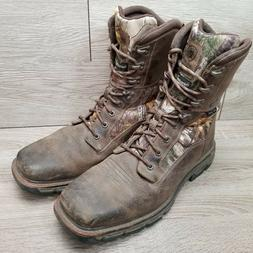 """Ariat Men Conquest 8"""" Camo Hunting Boot Insulated Waterproof"""