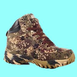 Men's Ankle Boots Camo Hiking Hunting Fleeces Shoes Tactical