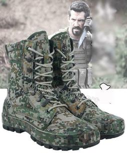 Men's Camo Tactical Army Outdoor Combat Ankle Boots SWAT Hik
