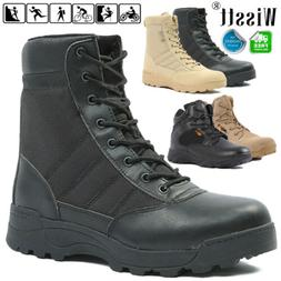 Men's Combat Military Tactical Work Boots Zipper Army Huntin