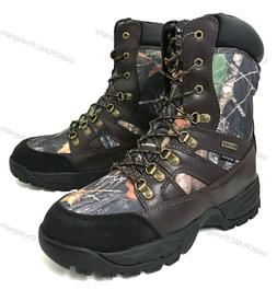 Men's Hunting Boots Waterproof Winter Snow Leather & Nylon T