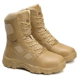"""Men's Military Tactical Boots 8"""" Side Zip Outdoor Sneaker Ou"""