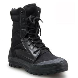 Men's Outdoor Army Tactical SWAT Canvas Boot Combat Hiking H