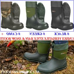HISEA Men's Rain Boots Unisex Waterproof Muck Working Boots