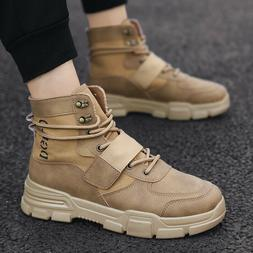 Men's Retro High-top Martin Boots Sneakers Outdoor Hunting T