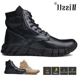 men s suede military tactical combat hiking