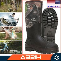 HISEA Men's Work Boots Insulated Rubber Boots Outdoor Boots