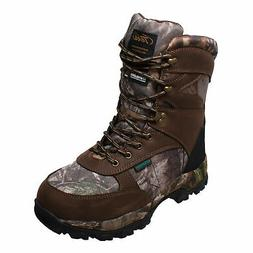 Tecs Mens Brown 10in Camo Hunting Boots 1000G Leather