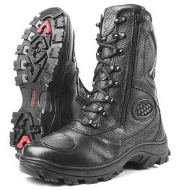 Hunt Boots Leather Motorcycle Tactical Special Forces Milita