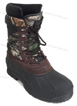 "New Men's Winter Snow Boots Camouflage 10"" Leather Waterproo"