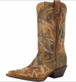 NEW Rocky Cowgirl Boots Women's HandHewn Snip Toe Western Br