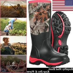 HISEA Women's Hunting Boots Breathable & Insulated Rubber Mu