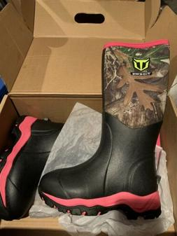 womens insulated waterproof hunting boots pink camo