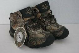 Youth Boys Realtree Xtra Hiking Boots Size 5 Brown Camouflag